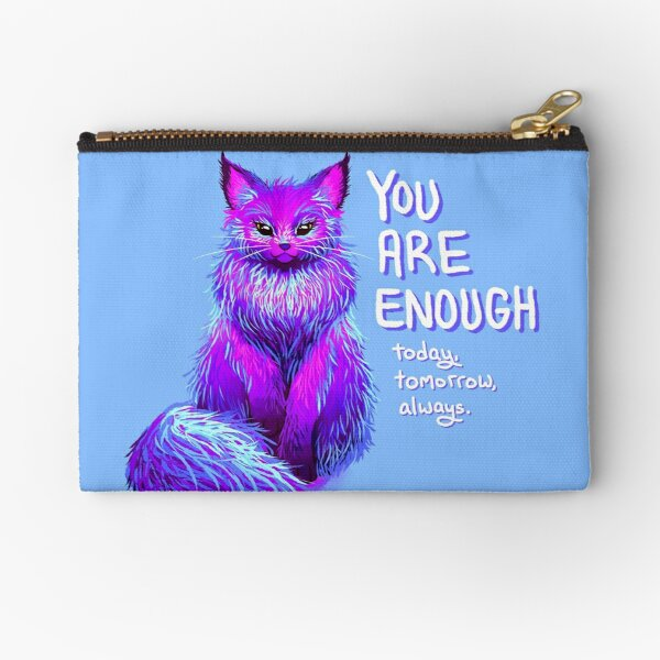 YOU ARE ENOUGH Magical Maine Coon Cat Zipper Pouch