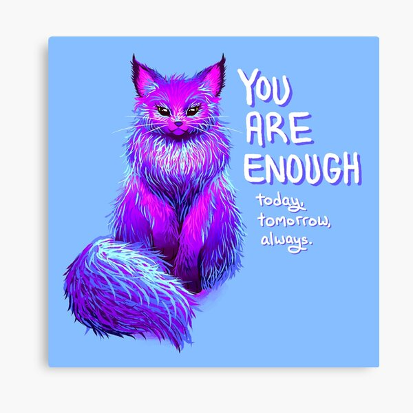 YOU ARE ENOUGH Magical Maine Coon Cat Canvas Print