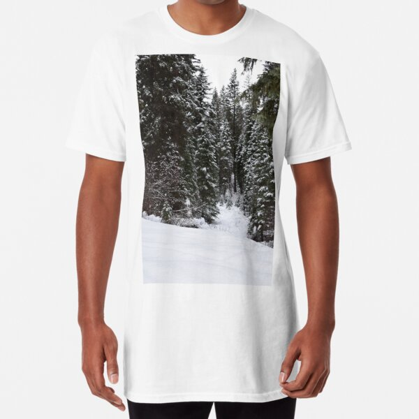 Snowy Woods in the Mountains Long T-Shirt