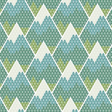 Mountain Pattern Geometric by simplyhomelife