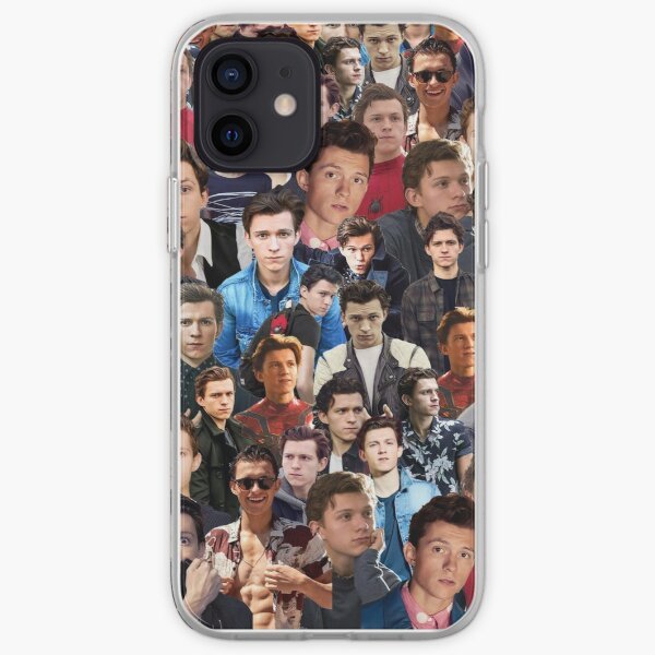 Tom Holland Collage Coque souple iPhone