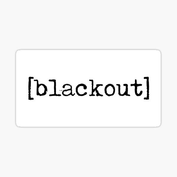 [blackout] Sticker