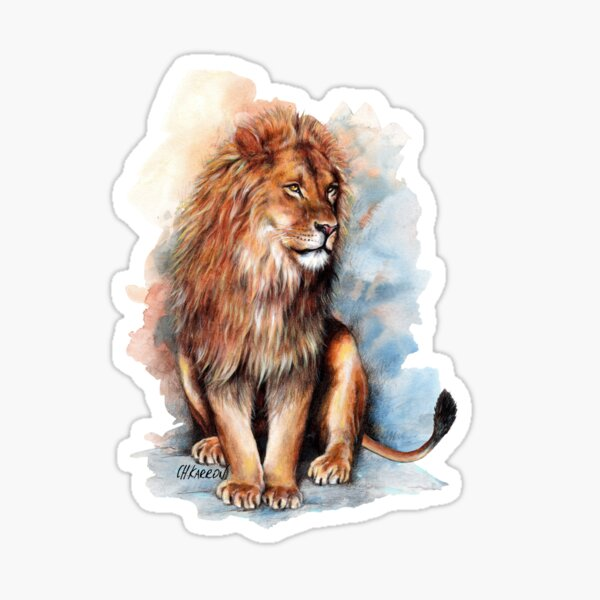 On The Watch - Lion Sticker
