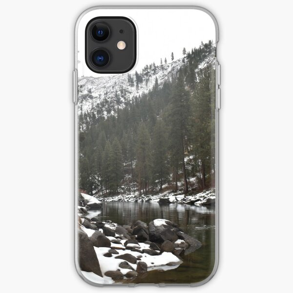 River in a Snowy Mountain iPhone Soft Case