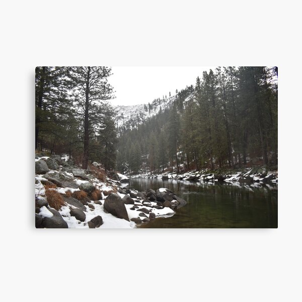 River in a Snowy Mountain Canvas Print