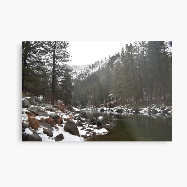 River in a Snowy Mountain Metal Print