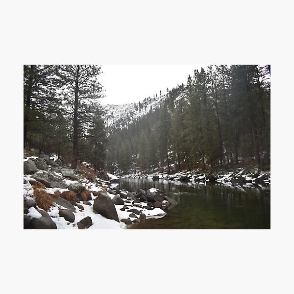 River in a Snowy Mountain Photographic Print