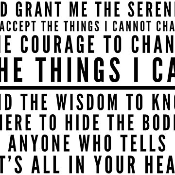 Spoonie Serenity Prayer by chroniclycrafty