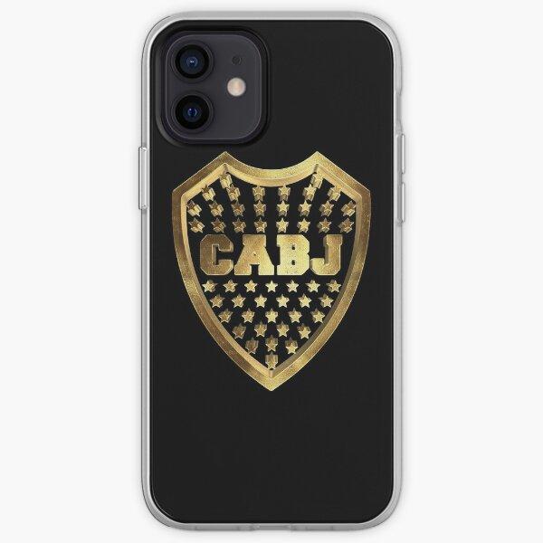 Club Atlético Boca Juniors Azul Gold Funda blanda para iPhone