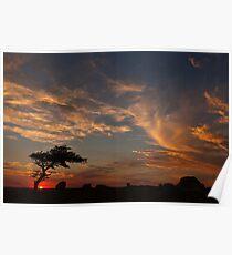 Sunset at Dog Rocks, Batesford Poster