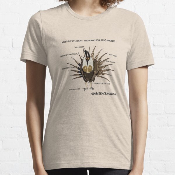 Anatomy of Gunny, the Gunnison sage-grouse Essential T-Shirt