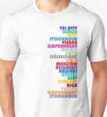 Gastgeberstädte der Eurovision - ESC2019 Unisex T-Shirt