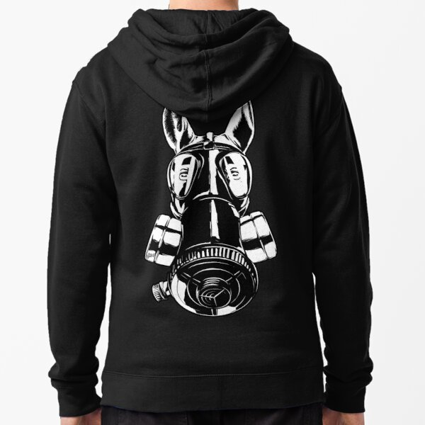 Equine Korps - Gasmask edition Zipped Hoodie