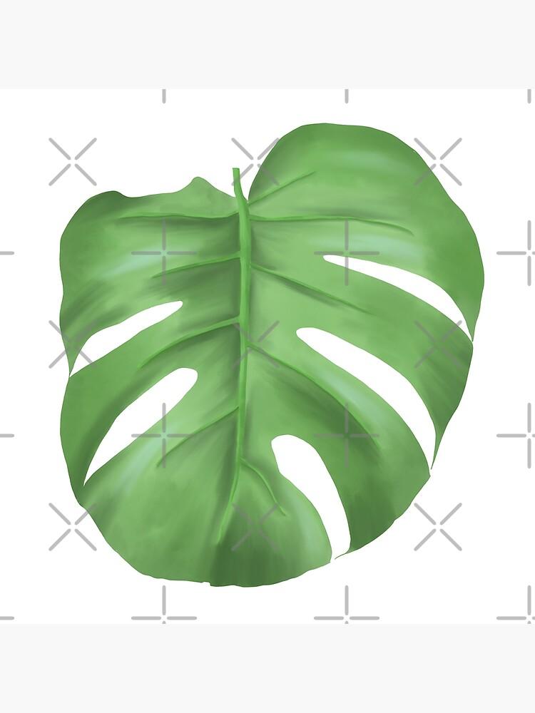 Monstera leaf by EllilaDesigns