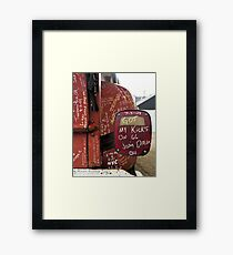 Kicks on Sixty-Six Framed Print