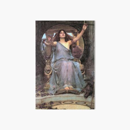 John William Waterhouse Circe Offering the Cup to Ulysses Art Board Print