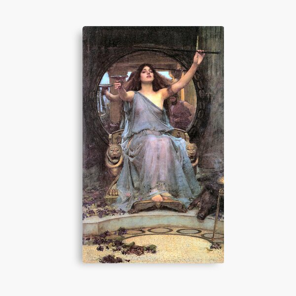 John William Waterhouse Circe Offering the Cup to Ulysses Canvas Print