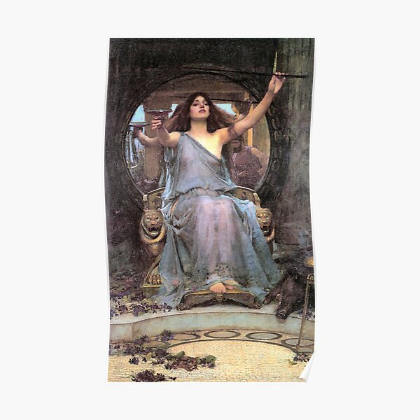 John William Waterhouse Circe Offering the Cup to Ulysses Poster