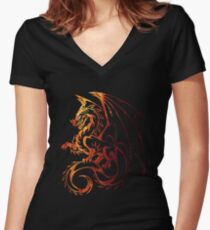 Dragon Space Women's Fitted V-Neck T-Shirt