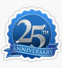 25th Anniversary Sticker