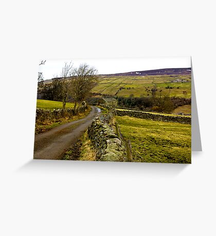 Dales Country Road. Greeting Card