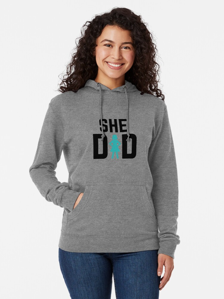 Alternate view of She did Lightweight Hoodie