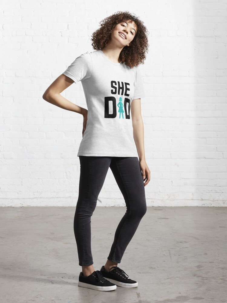 Alternate view of She did Essential T-Shirt