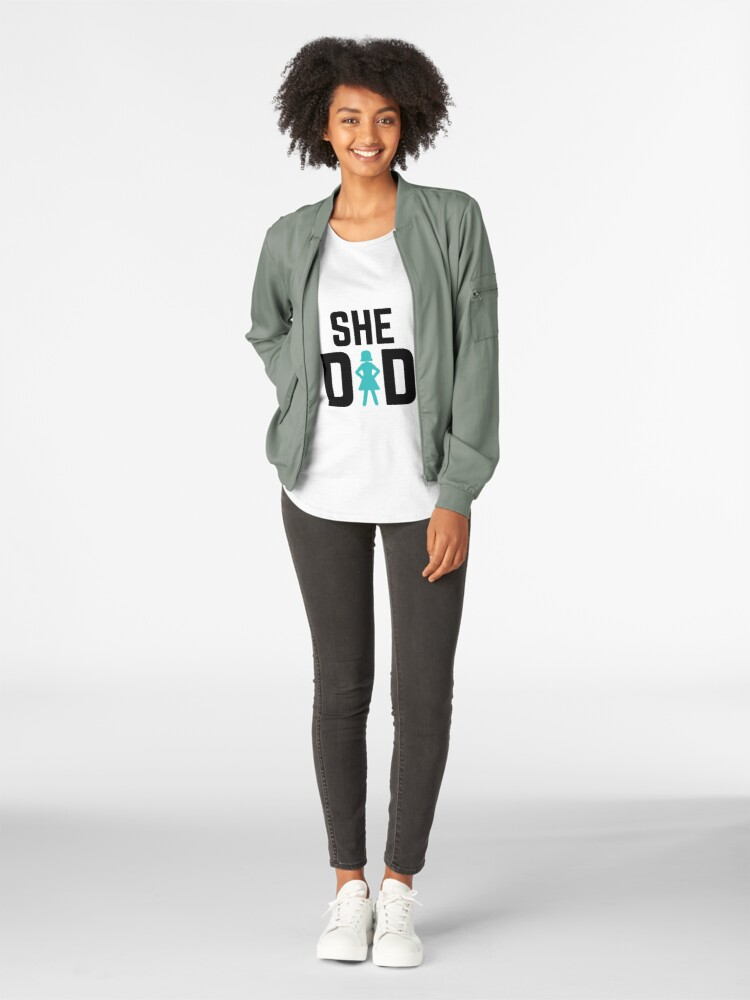 Alternate view of She did Premium Scoop T-Shirt