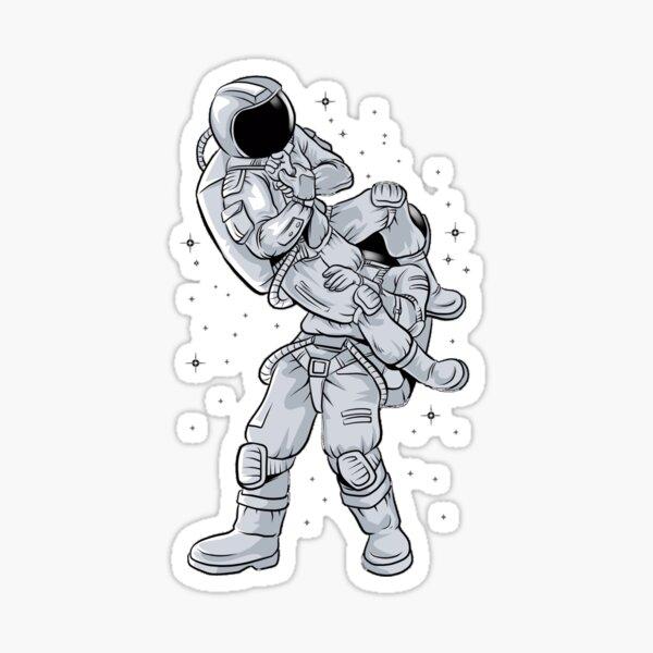 Bjj Astronaut Galactic Flying Armbars  Sticker