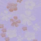 Pretty Lavender Purple Pencil Skirt Floral by Melissa Park