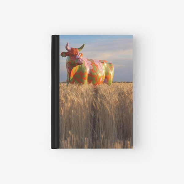 Painted Cow in the Wheat Hardcover Journal