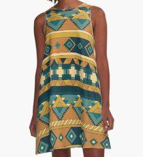 Boho-Chic A-Linien Kleid