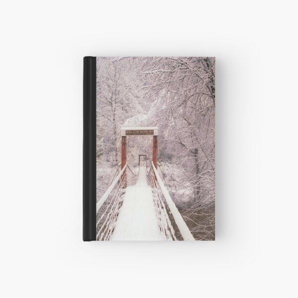 Old Mill Park Swinging Bridge Hardcover Journal