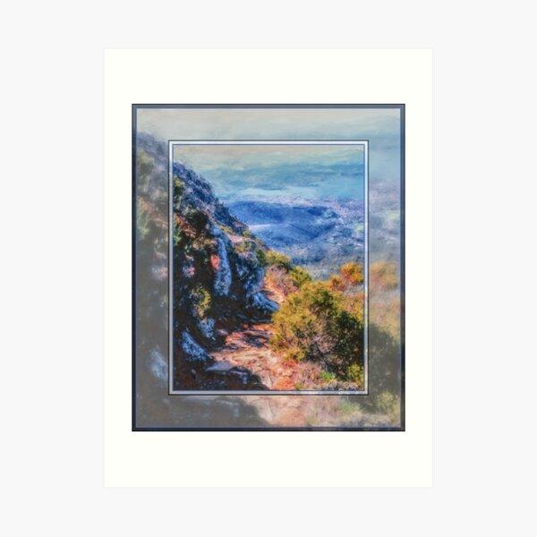 Zig Zag Track; Mt.Wellington/Kunanyi#1. Art Print