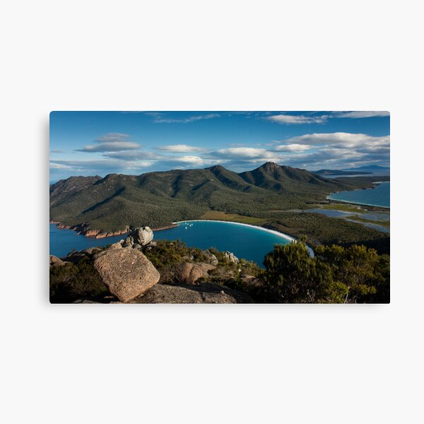 View of Wineglass Bay from Mount Amos Canvas Print
