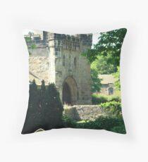 Whalley Abbey Entrance Throw Pillow