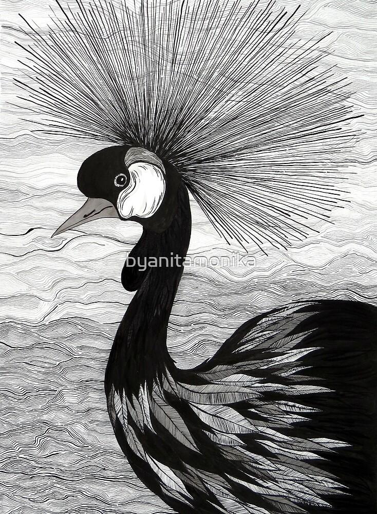 Crowned Crane by byanitamonika