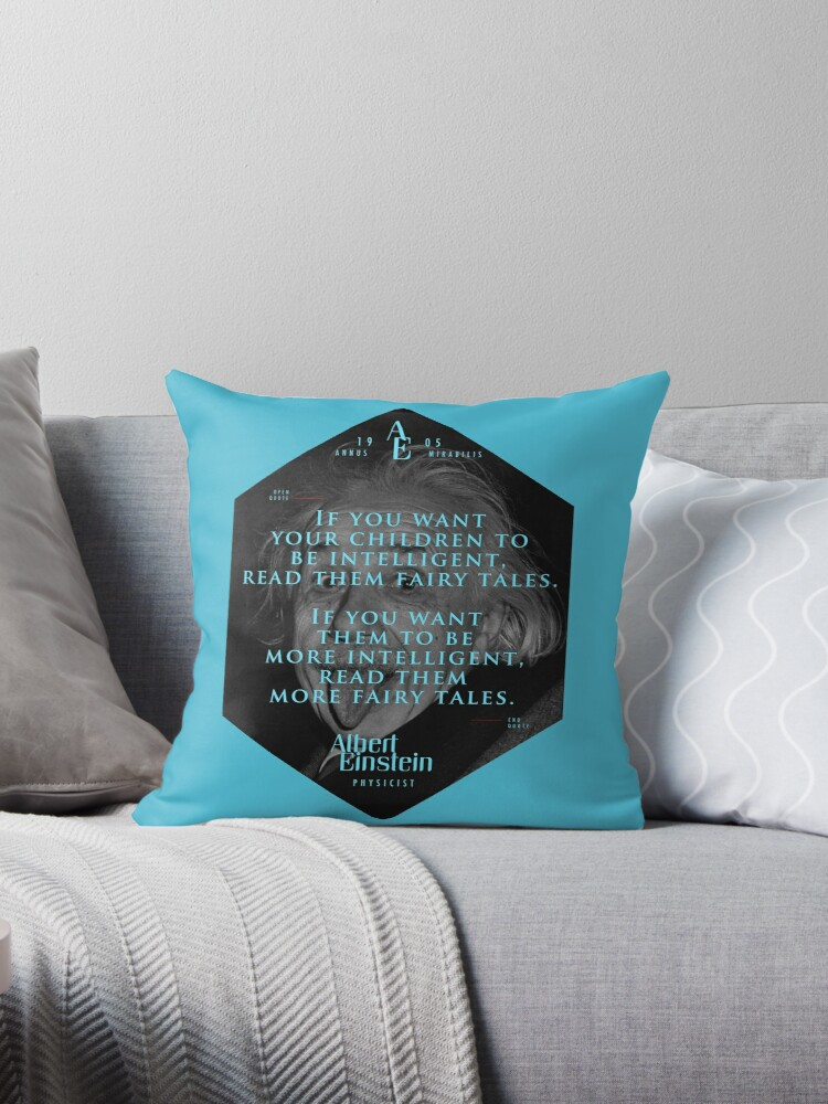 Quote From Albert Einstein On Fairy Tales Posters Stickers