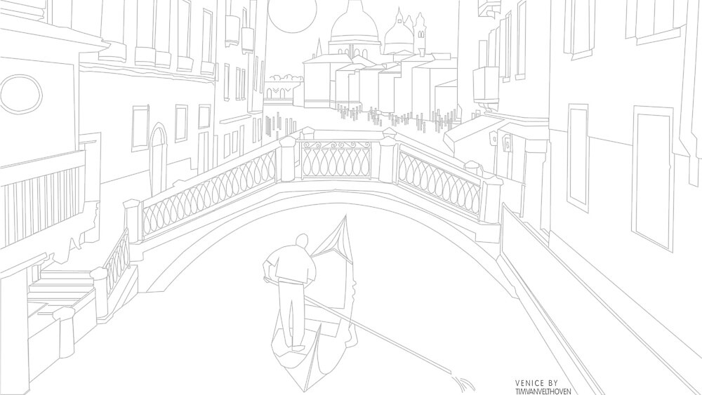 Venice Line Art by timvelthoven
