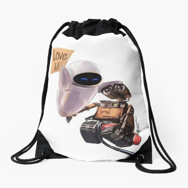 WALL-E & EVE Drawstring Bag