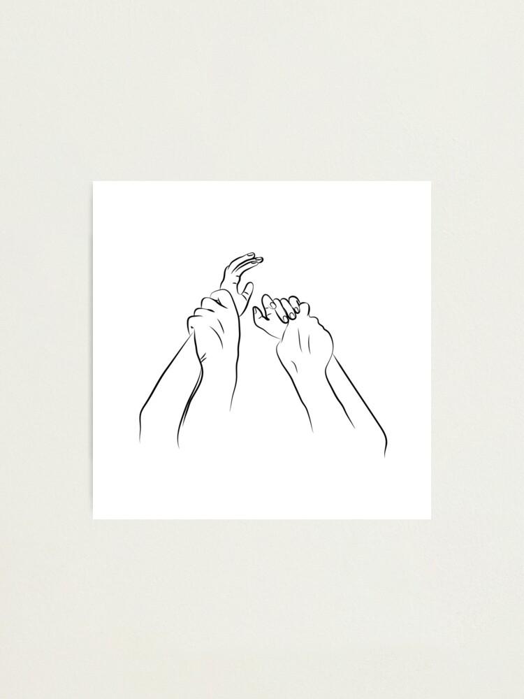 Alternate view of Hands Grabbing Photographic Print
