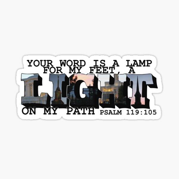 A Light on My Path Psalm 119:105 Big Letter Sticker
