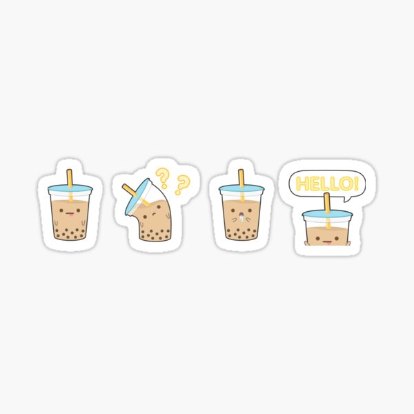 Boba Milk Tea Sticker Set - Tapi Sticker