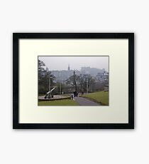 Auld Reekie From Calton Hill Framed Print