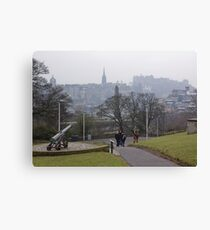 Auld Reekie From Calton Hill Canvas Print