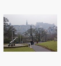 Auld Reekie From Calton Hill Photographic Print