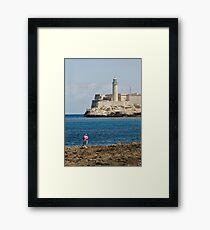 El Morro lighthouse, Havana, Cuba Framed Print