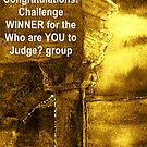 Banner for the challenge in the Who are YOU to Judge? group by ANNETTE HAGGER