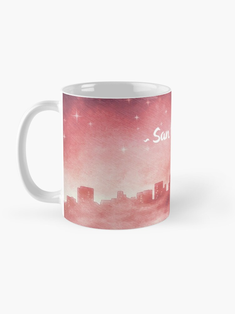 Alternate view of San Francisco at Night Mug