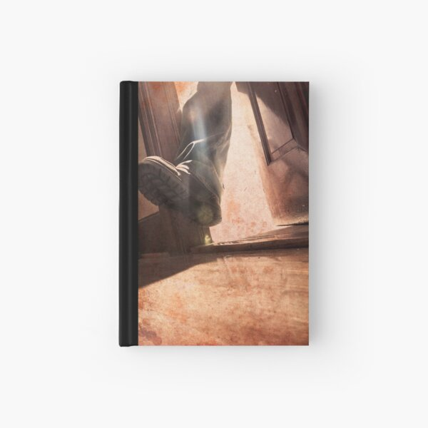 he has one foot out the door Hardcover Journal